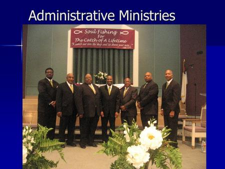 Administrative Ministries. Pastoral Ministry primary purpose is to: Serve as overseer of the church under Christ Serve as overseer of the church under.