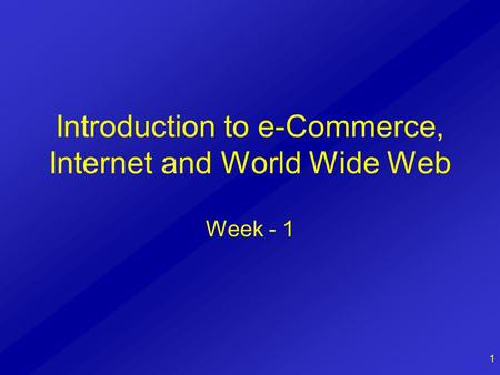 E-Commerce and E-Business/Introduction