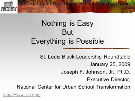 Nothing is Easy But Everything is Possible