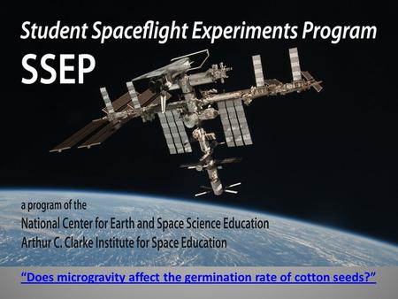 """Does microgravity affect the germination rate of cotton seeds?"""
