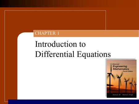 Introduction to Differential Equations CHAPTER 1.