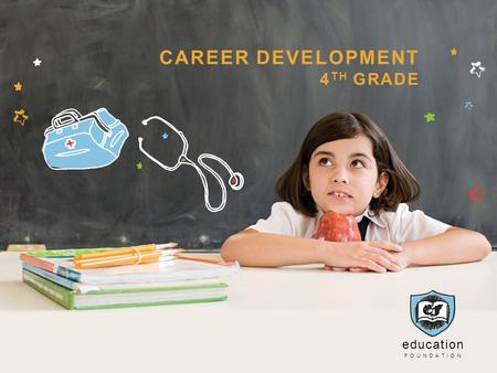 Education FOUNDATION CAREER DEVELOPMENT 4 TH GRADE.