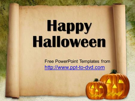 Happy Halloween Free PowerPoint Templates from