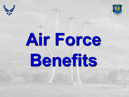 Air Force Benefits. Overview  Educational Programs  Air Force Institute of Technology Tuition Assistance  Pay  Basic Pay  Special Pay  Incentive.