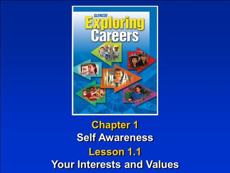 Chapter 1 Self Awareness Chapter 1 Self Awareness Lesson 1.1 Your Interests and Values Lesson 1.1 Your Interests and Values.