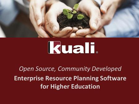 Open Source, Community Developed Enterprise Resource Planning Software for Higher Education.