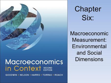 Macroeconomic Measurement: Environmental and Social Dimensions