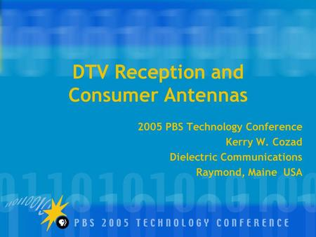 DTV Reception and Consumer Antennas