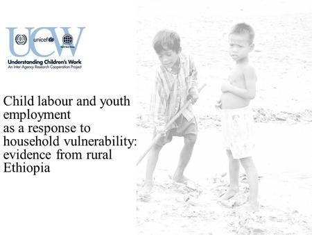 Child labour and youth employment as a response to household vulnerability: evidence from rural Ethiopia.