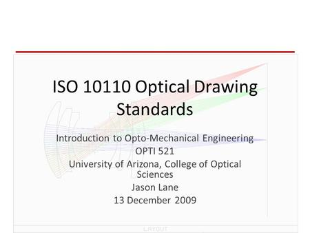 ISO Optical Drawing Standards
