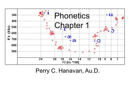 Phonetics Chapter 1 Perry C. Hanavan, Au.D.. Branches of Phonetics Experimental –Research methods and laboratory techniques Articulatory (physiological)