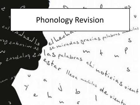 Phonology Revision.