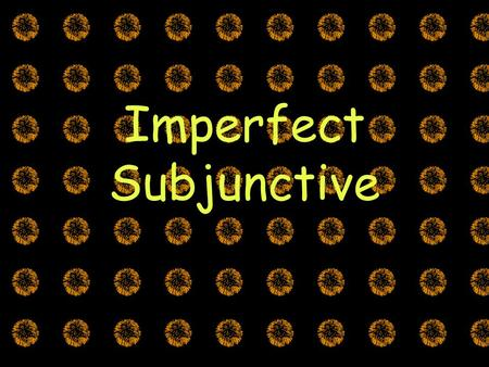 Imperfect Subjunctive. The imperfect subjunctive is used just like the present subjunctive: Noun clauses: If there's emotion, doubt/denial, es + adj.
