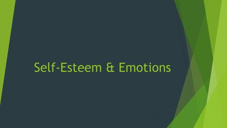 "Self-Esteem & Emotions. Slide 2 of 23 Health Stats These data show the results of a survey that asked teens, ""What would make you feel better about yourself?"""