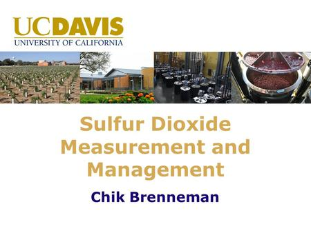 Sulfur Dioxide Measurement and Management