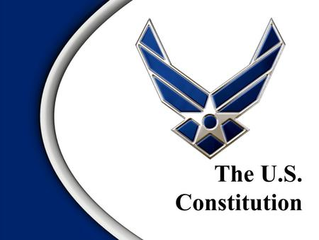  Click to edit Master text styles  Second level Third level  Fourth level Click to edit Master title style The U.S. Constitution.