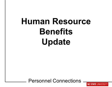 Retirement Workshop Human Resource Benefits Update Personnel Connections.