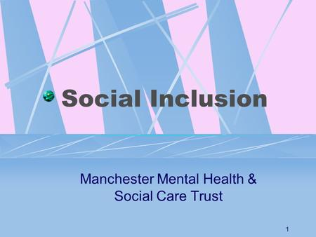 mental health and social inclusion Report on mental health and social inclusion forum report no36 published by the national economic and social forum copies of the report may be obtained from the.