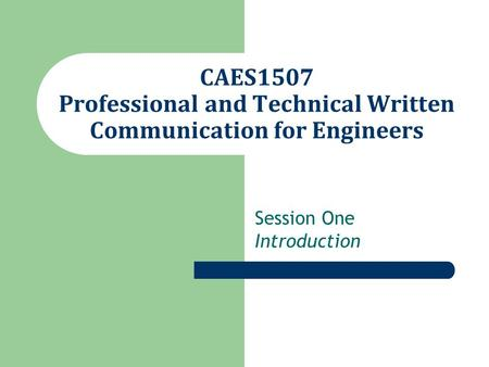 M.A. in professional and technical writing