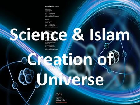 Science & Islam Creation of Universe