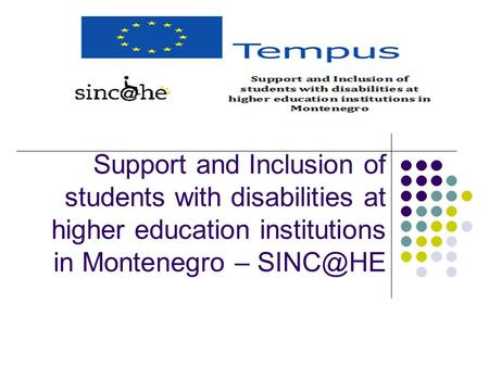 Support and Inclusion of students with disabilities at higher education institutions in Montenegro –