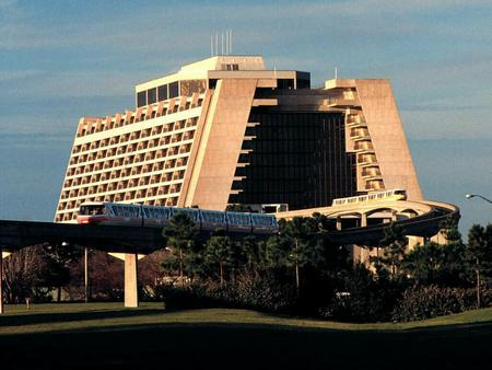 THE WALT DISNEY WORLD RESORT(S)  Disneyland became surrounded by tens of small motels/hotels, cheap restaurants and worst of all, sideline attractions.