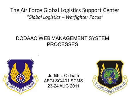 DODAAC WEB MANAGEMENT SYSTEM
