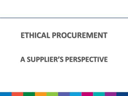 Ethical issues procurement management