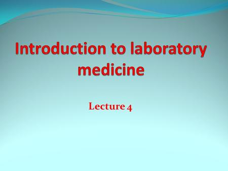 Lecture 4. Special chemistry Definition Special Chemistry is a subsection of the Chemistry Laboratory of the Division of Clinical Pathology. This includes.