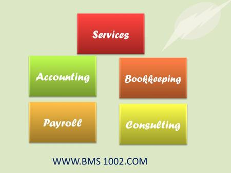 Services Bookkeeping Payroll Consulting Accounting WWW.BMS 1002.COM.