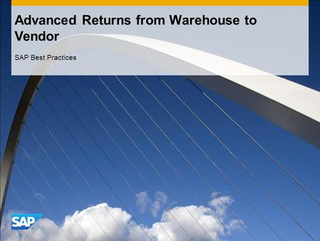 Advanced Returns from Warehouse to Vendor
