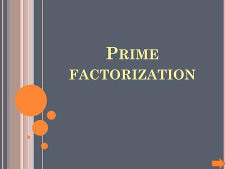 P RIME FACTORIZATION. Title: Prime Factorization In this lesson, students will use a non-linear power point to learn how prime factorization. Subject: