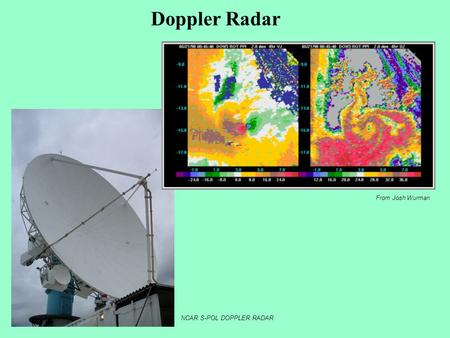 Doppler Radar From Josh Wurman NCAR S-POL DOPPLER RADAR.