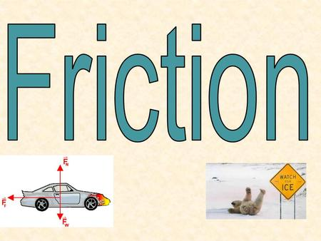 Friction Friction is the force that opposes the motion between two surfaces that touch. Friction forces are parallel to the contact surface and opposite.