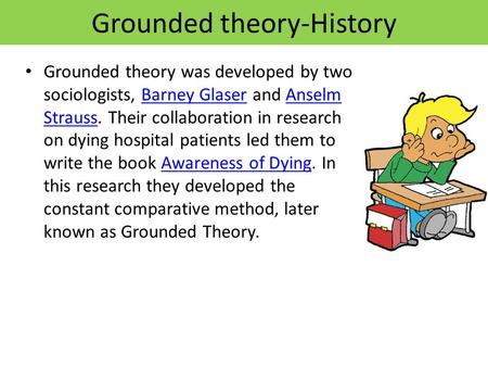 grounded theory research proposal Keywords: qualitative research, grounded theory, methodology, methods, dental care background qualitative research is increasingly popular in health and medicine.