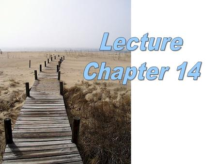 Lecture Chapter 14.