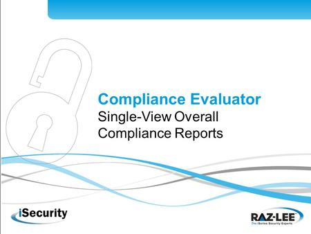 1 Compliance Evaluator Single-View Overall Compliance Reports.