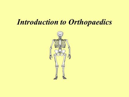Introduction to Orthopaedics. Test Yourself List the bones of the body. (More pts more bones!) Bone forming cells are called ______. Local stress stimulates.