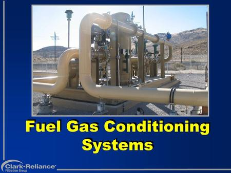 Fuel Gas Conditioning Systems. Wide Variety From Pipeline.