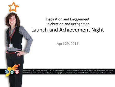 Inspiration and Engagement Celebration and Recognition Launch and Achievement Night April 29, 2015.