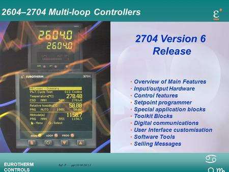 2704 Version 6 Release 2604–2704 Multi-loop Controllers