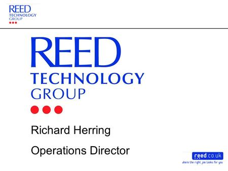 Richard Herring Operations Director. The Good Old Days!