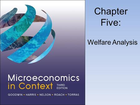 Chapter Five: Welfare Analysis. Consumer Surplus.