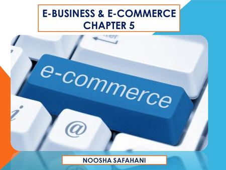 E-business & E-Commerce chapter 5
