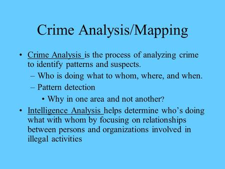process analysis essay crime When you are assigned to write a process analysis paper, there are many aspects to consider, such as picking the best process analysis essay topics.
