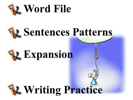 Word File Sentences Patterns Expansion Writing Practice.