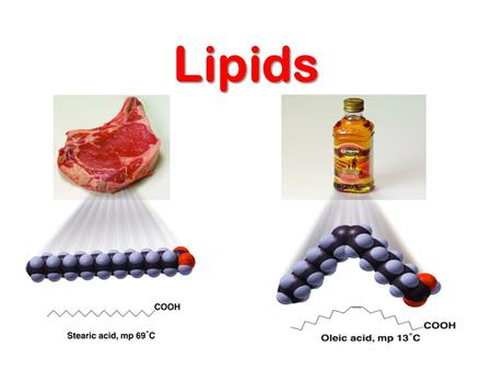 Lipids. Lipids  Made up of C, H and O  Can exist as fats, oils and waxes  They are insoluble in water  They are a good source of energy  (9 k cal.