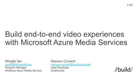 What is Microsoft Azure Media Services Architecture and Features Video-on-demand service Basic media workflow Dynamic packaging Secure delivery Live Streaming.