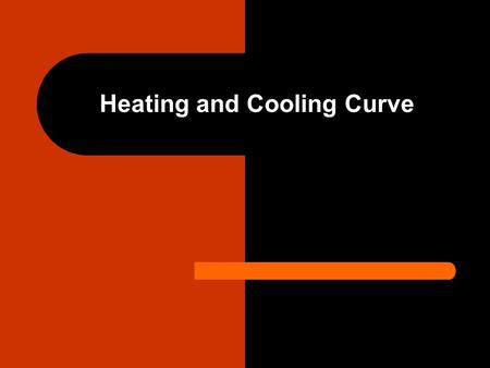 Heating and Cooling Curve. Heating Curve Is a graph of heat added versus temperature Is useful in describing the change in temperature and the amount.