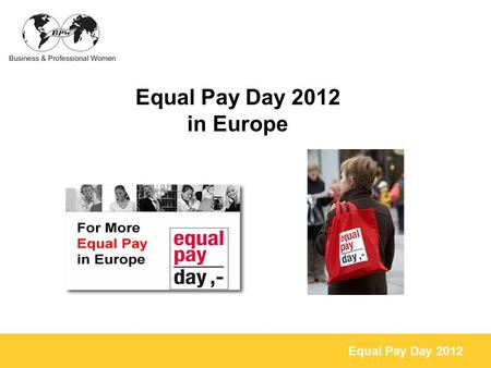 Equal Pay Day 2012 in Europe.